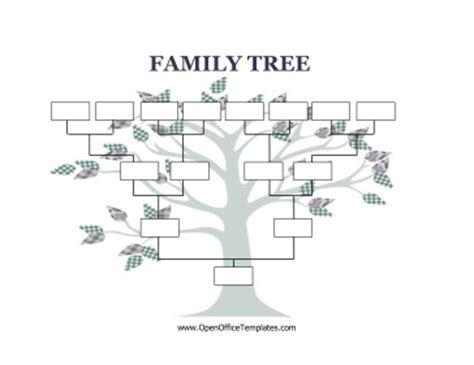 blank family tree template for openoffice calendar templates calendar template 2016