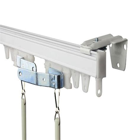 commercial drapery hardware commercial wall ceiling white 144 inch curtain track kit