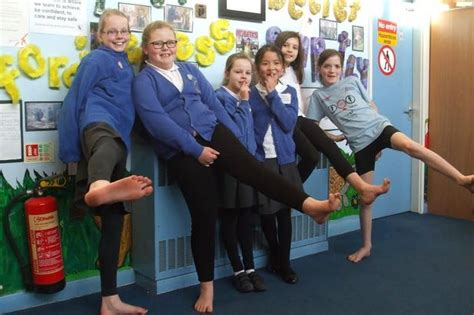 socks and shoes challenge barefoot challenge by fund raising pupils loughborough echo