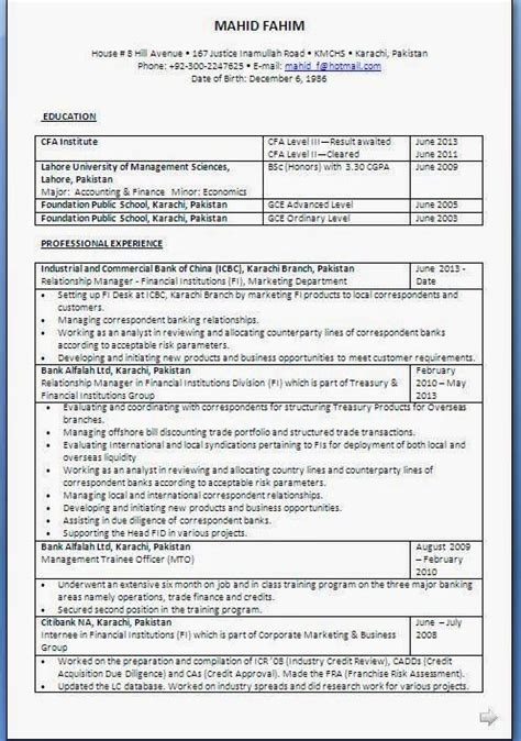 cv format karachi 7 best cfa images on pinterest level 3 facts and knowledge