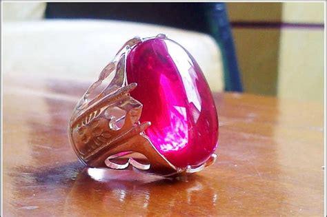Klawing Purbalingga Asli 02 batu permata merah delima kalimantan asli batu akik cincin