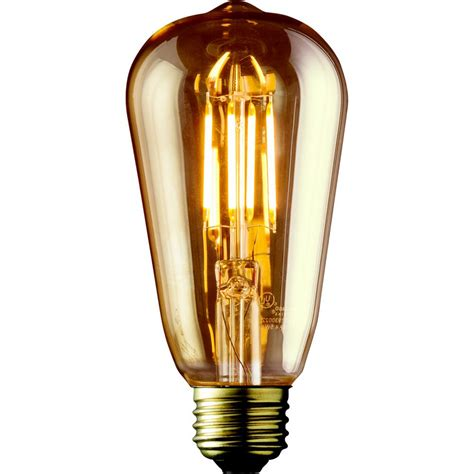 Edison Light Bulb Led Archipelago 60w Equivalent Warm White St19 Lens Vintage Edison Dimmable Led Light Bulb 2