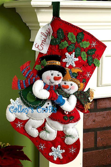 patterns for christmas stockings felt bucilla snowflake snuggle 18 quot felt christmas stocking