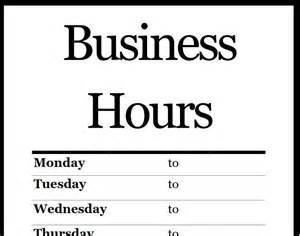 hours sign template free printable pdf business hours sign scrapbook misc free