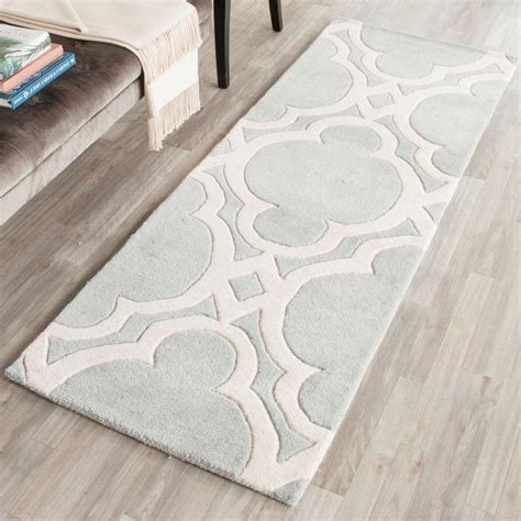 Pantofel Grey Ivory 2 safavieh chatham grey ivory 2 ft 3 in x 7 ft runner cht762e 27 the home depot