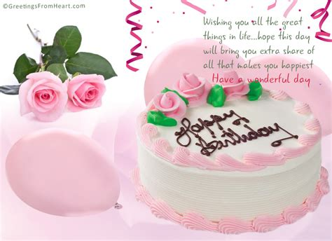 Happy Birthday Card Flowers And Cake happy birthday with cake and flowers happy birthday with