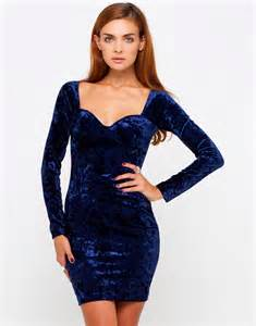 buy motel madame long sleeve bodycon dress in midnight