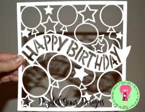 cricut templates happy birthday paper cut template svg dxf cutting file