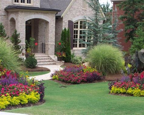pictures of flower gardens in front of house flower bed ideas for front of house gardening flowers