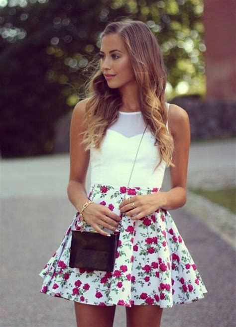 cute floral skirt outfits for teens 80 cute summer outfits ideas for teens for 2015