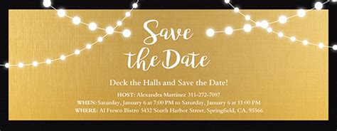 save the date holiday party free template free save the date invitations and cards evite