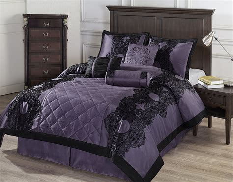 purple and black comforters black and purple comforter bedding ease bedding with style