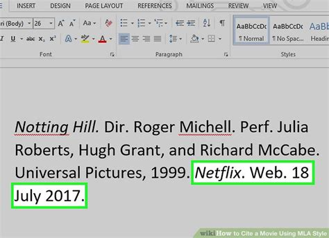 Film Mla 8 | 3 ways to cite a movie using mla style wikihow