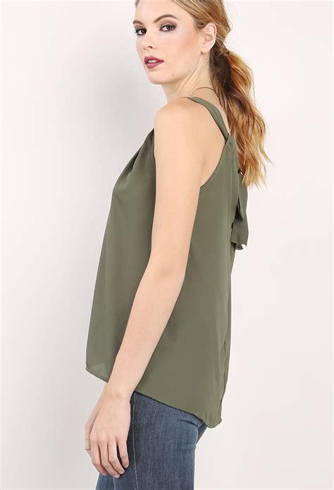 Ribbon Detail Sleeve Top back ribbon detail sleeveless top shop dressy tops at
