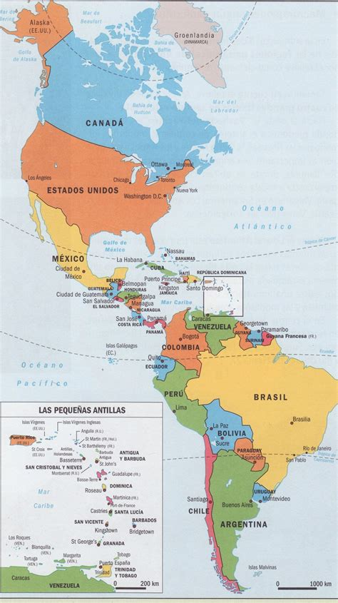 descargar libro e atlas geografico de espana y el mundo en linea mapa politico de am 233 rica continent am 233 rica caribean map geography y map geo