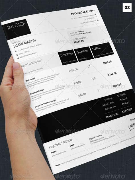 graphic design invoice template word download illustrator invoices