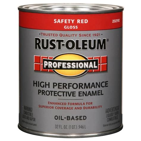 oil based spray paint dipping shop rust oleum professional safety red gloss oil based