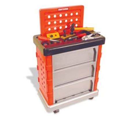 my first work bench amazon com my first craftsman rolling tool bench toys