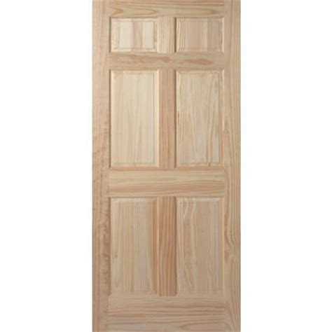Masonite 6 Panel Clear Pine Door 30 Inch X 80 Inch Home Masonite Interior Doors Canada