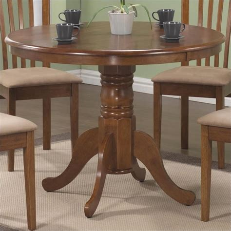 Coaster Brannan 40 Quot Round Single Pedestal Dining Table In