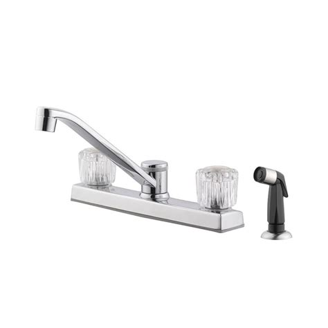 two handle kitchen faucet with sprayer design house millbridge 2 handle standard kitchen faucet with side sprayer in polished chrome