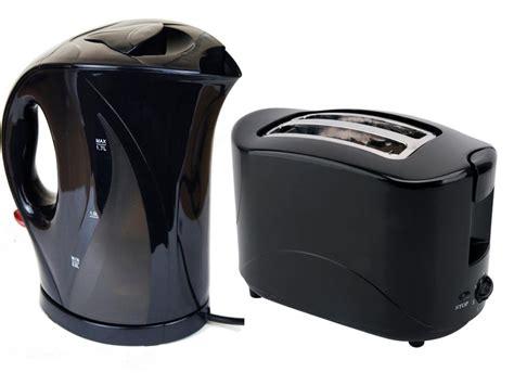 Travel Toaster And Kettle black 1 7 litre jug electric kettle 2 slice toaster 750w kitchen set 1l travel ebay
