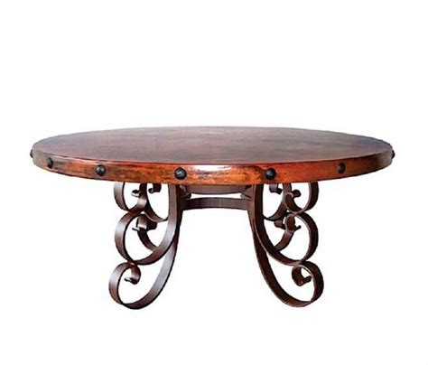 hammered copper dining table carved wood base hammered copper top dining table