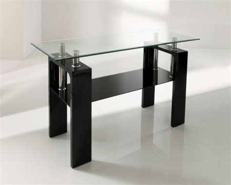 Black Gloss Console Table Calico Console Table Black Gloss Glass