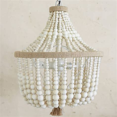 8 Best Beaded Chandeliers 2018 Beautiful Wood Chandeliers with Beads
