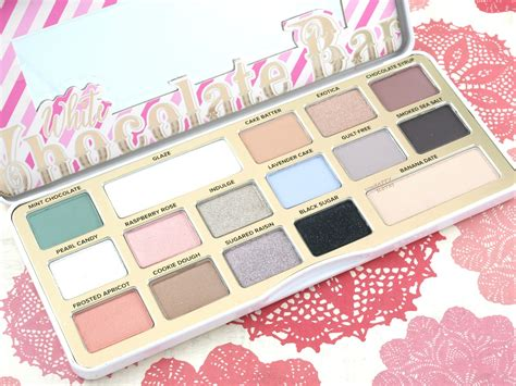 Faced Chocolate Bar Eye Shadow faced white chocolate bar eyeshadow palette review