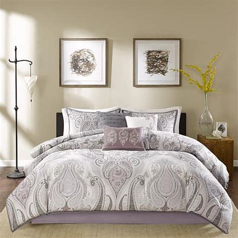 purple california king comforter sets madison park samir purple comforter set california king