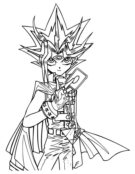 free coloring pages of yu gi oh yugi and yami