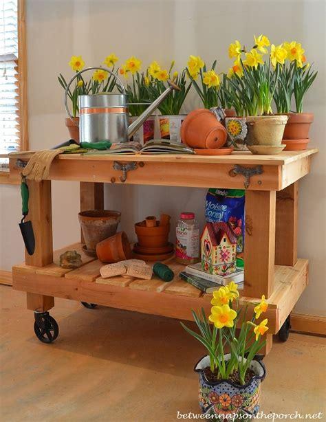 pottery barn potting bench build a potting bench or garden buffet table pottery barn
