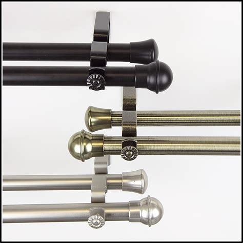 double curtain rod sets adjustable double curtain rod set with beaded finial