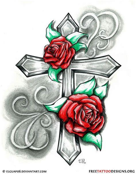 Tattoo Cross With Roses | tattoo tattoo ideas cross tattoo designs roses tattoo