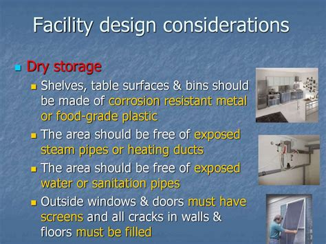 facility layout design considerations cleaning and disinfection in the kitchen chapter 6