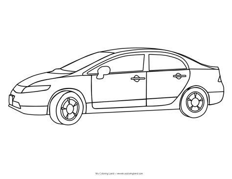 Cars My Coloring Land Cars Coloring Pages To Print