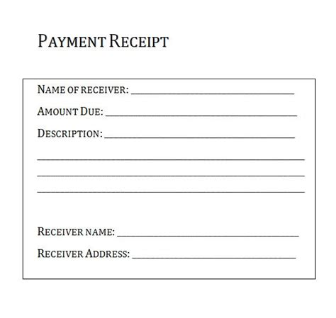 proof of payment receipt template 10 best images of proofs of payments receipts templates