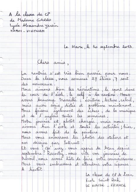 Exemple De Lettre Pour Un Correspondant Français L 233 Cole De Ngaoundaba 187 Nos Correspondants Nous Ont 233 Crit