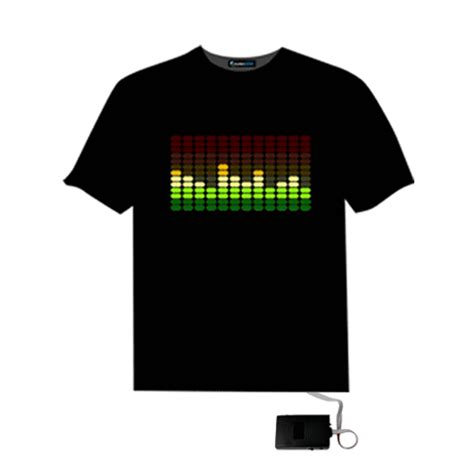 Quality Equalizer T Shirt sound activated light up and pattern el led equalizer t shirt 27707 at