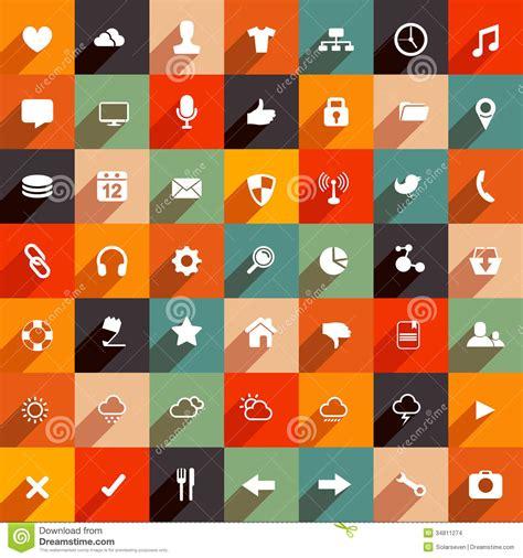 modern flat icons stock images image 34811274