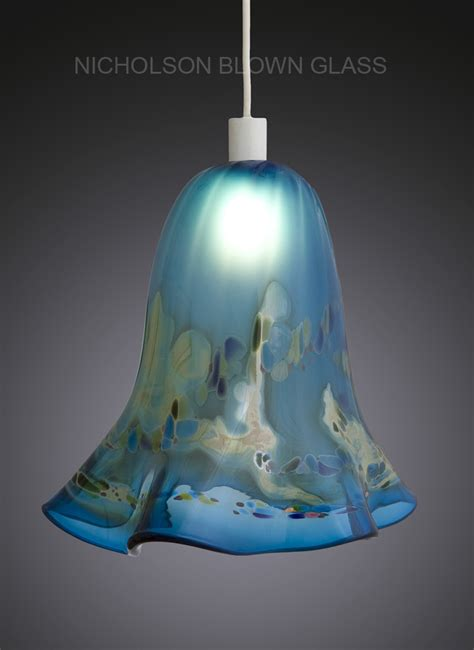 Aqua Glass Pendant Light Nicholson Blown Glass Pendant Lighting