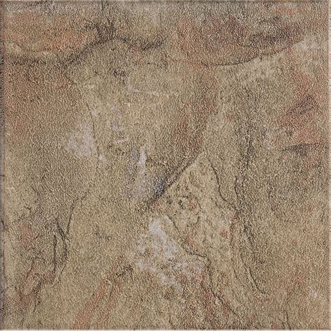 shop style selections 13 in x 13 in canyon slate glazed porcelain floor tile at lowes com