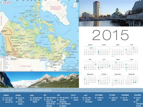 Calendrier 2015 Canada Calendrier De Vacances Canada 2015