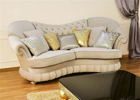 Stuffed Sofa by Sofas Padded Quilted Backrest Classic Style Idfdesign