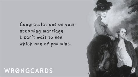 Wedding Ecard: upcoming marriage   Wrongcards