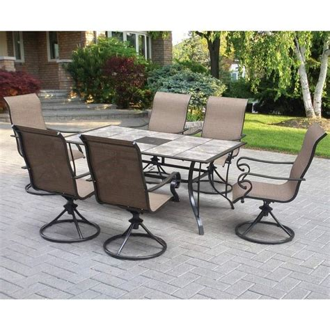 6 swivel chair patio set lakeside table with 6 swivel chairs weekends only