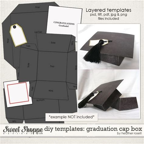 graduation cap card box template diy templates graduation cap box by roselli diy