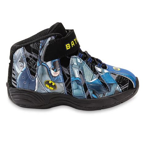 dc basketball shoes dc comics batman toddler boy s high top basketball shoe