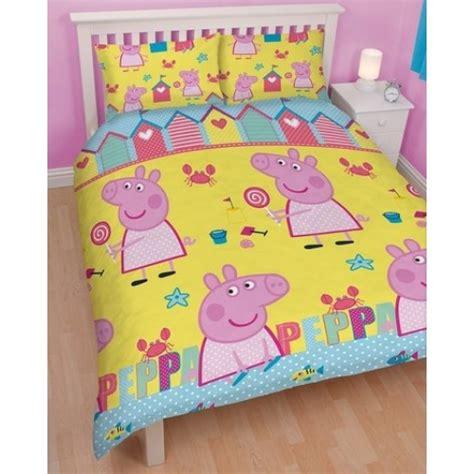 Peppa Pig Bed Quilt Cover by Peppa Pig Seaside Reversible Rotary Bed Duvet